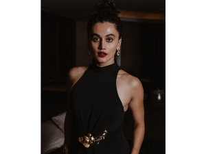 Taapsee Pannu S Black Gown On Her Instagram