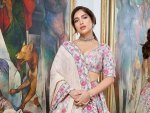 Bhumi Pednekar In A Pink Floral Lehenga For Durgamati Promotions