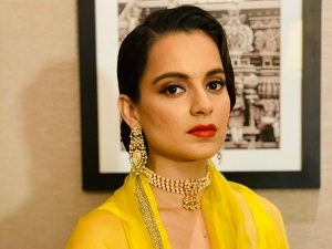 Thalaivi Actress Kangana Ranaut Glows In A Bright Yellow Saree