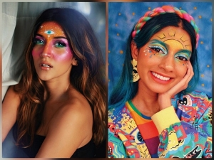 Make Up Enthusiasts Flaunt Their Pro Make Up Skills By Painting Their Face
