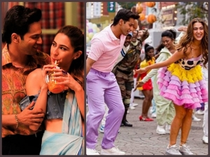 Sara Ali Khan S Stylish Looks From Coolie No 1 S Mirchi Lagi Toh Song