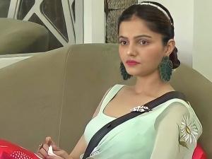 Rubina Dilaik S Green Saree Look And Earrings On Bigg Boss