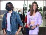 Kriti Sanon Kartik Aaryan Khushi Kapoor And Other Bollywood Celebs At Airport