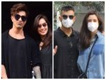 Virat Kohli Anushka Sharma And Karan Singh Grover Bipasha Basu In Chic Outfits
