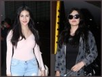 Zareen Khan And Amyra Dastur S Airport Look In Stylish Outfits