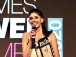 Dil Bechara Actress Sanjana Sanghi Flaunts Black Gown At Times Power Women Award