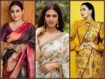 Vidya Balan Kirti Kulhari And Malavika Mohanan S Saree Looks