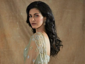 Amyra Dastur In A Shimmering Mint Green Saree At Tandav Trailer Launch