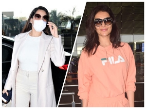 Karishma Tanna And Nora Fatehi In Stylish Outfits At The Airport