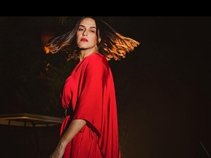Roadies Gang Leader Neha Dhupia S Pictures In Red Maxi Dress On Instagram