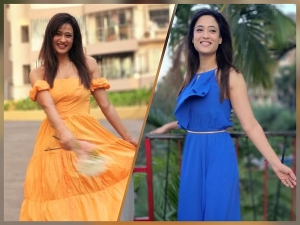 Shweta Tiwari Flaunts Blue And Yellow Dresses On Instagram