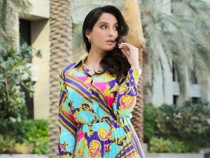 Bhuj Actress Nora Fatehi S Picture In A Colourful Dress On Instagram