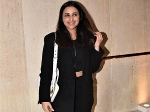 The Girl On The Train Actress Parineeti Chopra In A Black Pantsuit