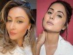 Urvashi Dholakia And Hina Khan Nail Neon Yellow And Black Eyeliner Look