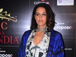 Neha Dhupia Graces The Red Carpet Of Femina Miss India In A Maxi Dress And Jacket