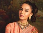 On Hug Day Up Your Valentine Fashion Game With This Floral Saree Of Erica Fernandes