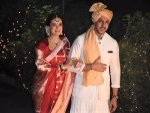 Dia Mirza S Wedding Look In A Traditional Red Saree And Jewellery