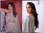 Kiara Advani And Madhuri Dixit S Glamorous Look In Glittery Saree