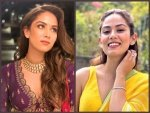 Mira Rajput In A Yellow Saree And Purple Lehenga For A Friend S Wedding Festivities