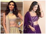 Hina Khan And Karishma Tanna Gives Wedding Fashion Goals In Their Pretty Lehenga