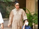 Mom To Be Kareena Kapoor Khan Steps Out With Son Taimur In A Beige Dress