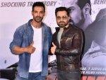 John Abraham And Emraan Hashmi At The Trailer Launch Of Mumbai Saga