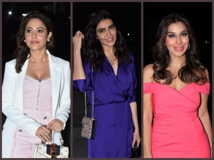 Sophie Choudry Nushrat Bharucha And Karishma Tanna At Poorna Patel S Party