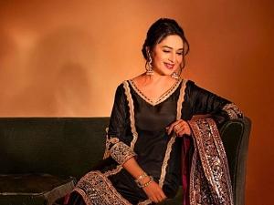 Madhuri Dixit In A Traditional Black Kurta Set For Dance Deewane