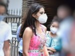 Atrangi Re Actress Sara Ali Khan Steps Out For A Shoot In A Pink Lehenga