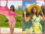Hina Khan S Colourful Co Ord Sets From Maldives Vacation