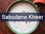 Maha Shivratri 2021 Sabudana Kheer Recipe For Your Vrat