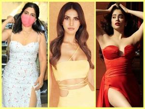 Bhumi Pednekar Janhvi Kapoor And Vaani Kapoor Slay In Their Slit Dresses