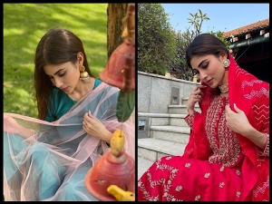 Mouni Roy S Traditional Suits On Instagram