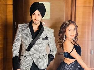 Neha Kakkar And Rohanpreet Singh Twin In Black Outfit On Instagram