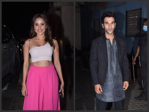 Rajkummar Rao Nushrat Bharucha And Other Celebs Attend Roohi Screening