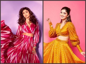 Shilpa Shetty Gives Festive Fashion Goals In Her Pink And Yellow Skirt Top Combos