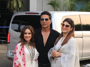 Ram Setu Stars Akshay Kumar Nushrat Bharucha And Jacqueline Fernandez Flew To Ayodhya