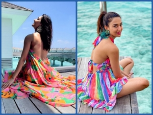 Erica Fernandes Stunning Pictures From Maldives In Backless Colourful Dresses