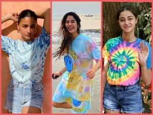 Ananya Panday Janhvi Kapoor And Alia Bhatt S Tie Dye Tees For Holi