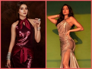 Nora Fatehi And Urvashi Rautela In Gowns At 66th Filmfare Awards