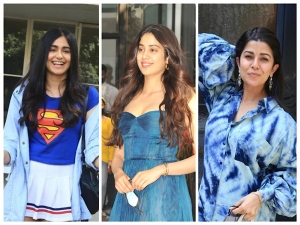 Nimrat Kaur Janhvi Kapoor And Adah Sharma In Blue Outfits