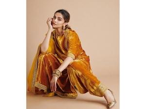 Deepika Padukone S Velvet Sabyasachi Suit For Holi Festivities