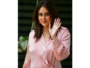 Kareena Kapoor Khan Spotted In A Striped Dress