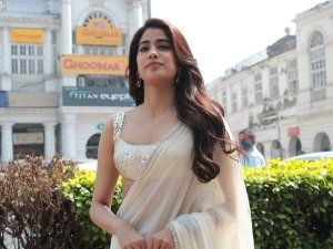 Janhvi Kapoor Raises Temperature In Delhi As She Steps Out In A Light Yellow Saree For Panghat Song Launch