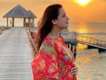 Dia Mirza Announces Her Pregnancy In A Floral Printed Kaftan Dress On Instagram