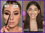 Best Videos From The 2016vs2021 Makeup Challenge On The Internet