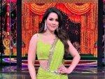 Waluscha De Sousa In A Modern Lime Green Saree For Indian Pro Music League