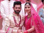 Rahul Vaidya And Disha Parmar Twin In Wedding Perfect Pink Outfits In The Latest Picture