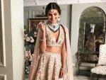 Tadap Actress Tara Sutaria S Latest Pastel Pink Bridal Lehenga And It S Price