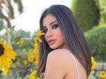 Mouni Roy Rocks Bold Smokey Eyes Makeup Look As She Takes A Detour To A Sunflower Garden